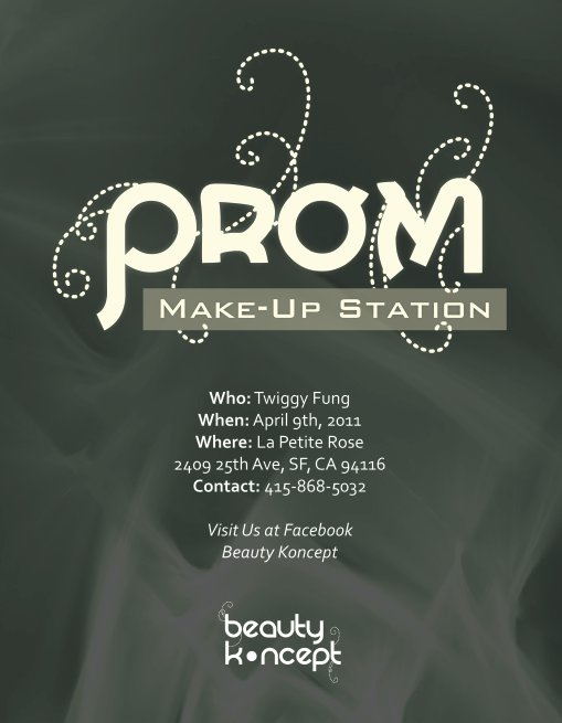 Prom Makeup Station